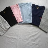 Tshirt Polo Ralph Lauren Crew Neck Putih Biru Hitam Abu-Abu Original