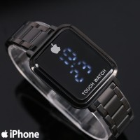 Jam Tangan Wanita / Iphone Touch SJG429 + Free Batrai Cadangan - FULL HITAM
