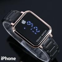 Jam Tangan Wanita / Iphone Touch SJG429 + Free Batrai Cadangan - HITAM ROSE