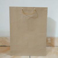 paperbag/paper bag/ tas belanja polos uk. 26x34x9cm