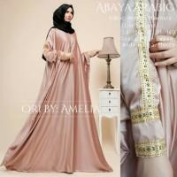 Jual Dress Abaya Eksklusive Hermes Maxmara Mocca List Songket Original Murah