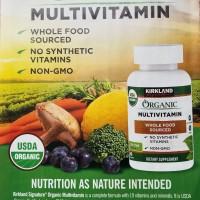 Whole Food Organic Multivitamin by Kirkland Signature.