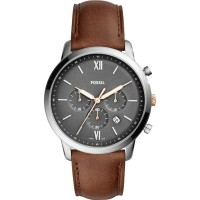 Fossil Pria Neutra Chronograph Light Brown Leather FS5408