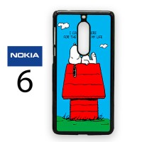 Casing Nokia 6 Snoopy I Could Lay Here For The Rest Hard Case