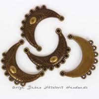 Harga ornamen etnik minang rangka 53 mm x 19 mm bahan kalung aksesoris   Pembandingharga.com