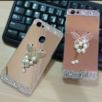 Mirror Case Xiaomi Redmi Note 5A Prime Luxury Diamond Butterfly - Rose