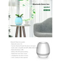 Smart Bluetooth Audio Speaker 7 warna Mood Night LED Lampu Tidur Pot