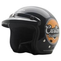 Helm Bogo Retro Cargloss Custom Classic - Deep Black