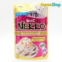 Nekko - Tuna Topping Shrimp and Scallop in Jelly 70g kornet kucing