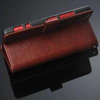 Lenovo Vibe Shot Z90 leather case dompet kulit hp FLIP Berkualitas