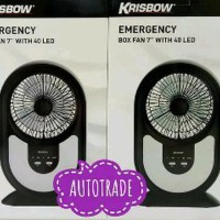 KRISBOW EMERGENCY BOX FAN WITH 40 LED KIPAS ANGIN LAMPU Promo