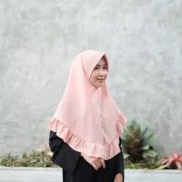 Jual jilbab rempel pet instan / kriwil khimar Murah