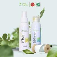 Paket Combo 2 Green Angelica Shampo Anti Rontok dan Hair Tonic