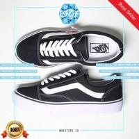 01 Sepatu Sneakers VANS OLD SKULL BLACK / HITAM / GRADE ORI / MADE IN
