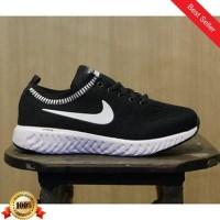 01 Sepatu Sneakers Wanita Fashion Nike Zoom Woman Warna Hitam Putih Ca