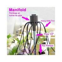 Jirifarm Manifold Hidroponik 10 Output 7mm Input 1/2 Inch 11686