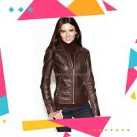 ELEGAN.! Jaket Original Kulit Domba Kualitas Super Untuk Wanita Coklat