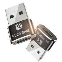FLOVEME USB Type C Female to Type A Male Adapter Converter OTG