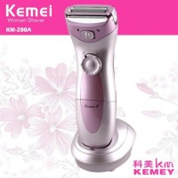 Kemei KM-200A Rechargeable Electric Hair Remover Washable Epilator