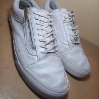 Sepatu VANS OS Zip White Leather Ori preloved second bekas