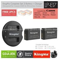 KingMa Paket Complete Battery Charger Set LP-E17 Canon M3 M5 M6 etc