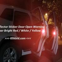 Sticker Door open warning reflector Pintu mobil reflektor Stiker super