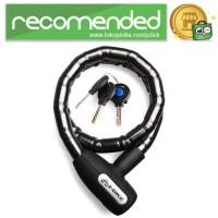 INBIKE Gembok Sepeda Kabel Waterproof 0.85m - Hitam