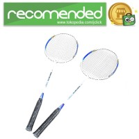 REGAIL Raket Badminton Aluminium 2 PCS - 718A - Biru