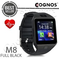SALE! COGNOS M8 SMARTWATCH HEART RATE DZ09 SMART WATCH - FULL BLACK