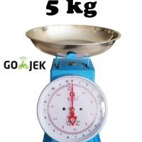 Timbangan Besi 5 kg / Alat timbang duduk jarum dapur kue serbaguna