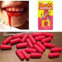 FAKE BLOOD 3pcs darah palsu capsule halloween