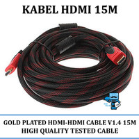 Kabel HDMI to HDMI 15 Meter Gold Plated - High Quality