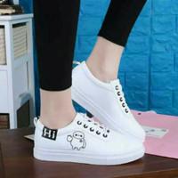 Sepatu Sneakers Wanita Cewek Slipon Nike Loafers Terbaru Murah Putih