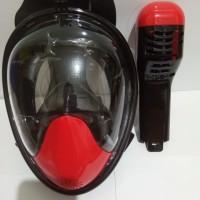 Full Mask ALAT SNORKELING TRIBORD EASYBREATH SNORKLING MUSK (OR-02)