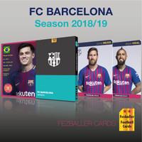 kartu bola Fezballer Card FC BARCELONA season 2018/2019