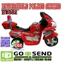 Mainan Motor Aki HW882 Motorcycle Police Sirine SNI