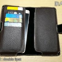 Case VIVO V9 Dompet Sarung untuk Hp Smartphone Double d Berkualitas