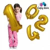 Balon Foil Huruf dan Angka Besar 80cm ( Pink Biru Silver Gold )