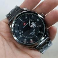 Jam Tangan Pria Swiss Army Ukuran Diameter Besar 5Cm High Quality