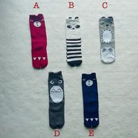 kaos kaki korea panjang fashion middle socks murah untuk anak dan bayi