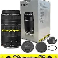 LENSA TELE ZOOM KAMERA DSLR CANON EF 75-300mm F4-5.6 III Paket komplit