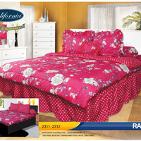 SPREI BED COVER/BED COVER SET - CALIFORNIA MY LOVE KING RAISHA 180 X 2