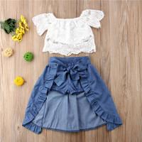 BAJU BAYI - Setelan brukat dengan celana rok for baby girl TERMURAH
