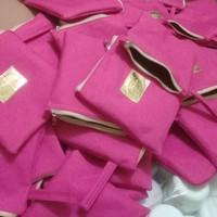 dompet pink/pouch/tas tabita/tas kosmetik