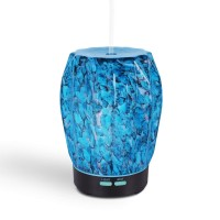 H50 Glass Oil Diffuser Cool Mist Humidifier 7 Color LED-100ML