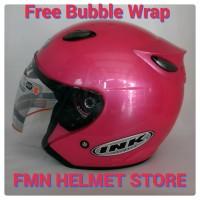 Harga Helm Ink Centro Jet Solid Original B Pink