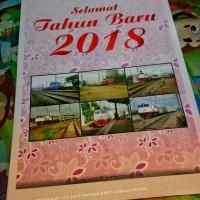 Kalender Dinding Tahun 2018 Tema Kereta Api Tipe 1
