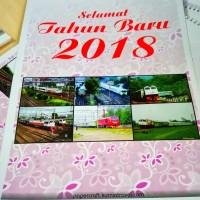 Kalender Dinding Tahun 2018 Tema Kereta Api Tipe 6