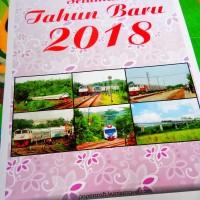Kalender Dinding Tahun 2018 Tema Kereta Api Tipe 3