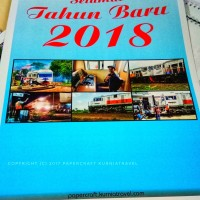 Kalender Dinding Tahun 2018 Tema Kereta Api Tipe 5